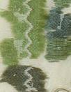 NY designer green tones 2-ply clipped matelasse'