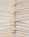 white/rose gold metallic 'painted 3-D' nylon/spandex knit