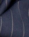 NY designer RPL stretch woven - midnight stripe