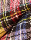 Italian virgin wool yarn dyed plaid, soft and drapey woven