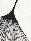 ginkgo on white bamboo/spandex jersey - oekotex cert.