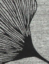 ginkgo on gray bamboo/spandex jersey - oekotex cert.