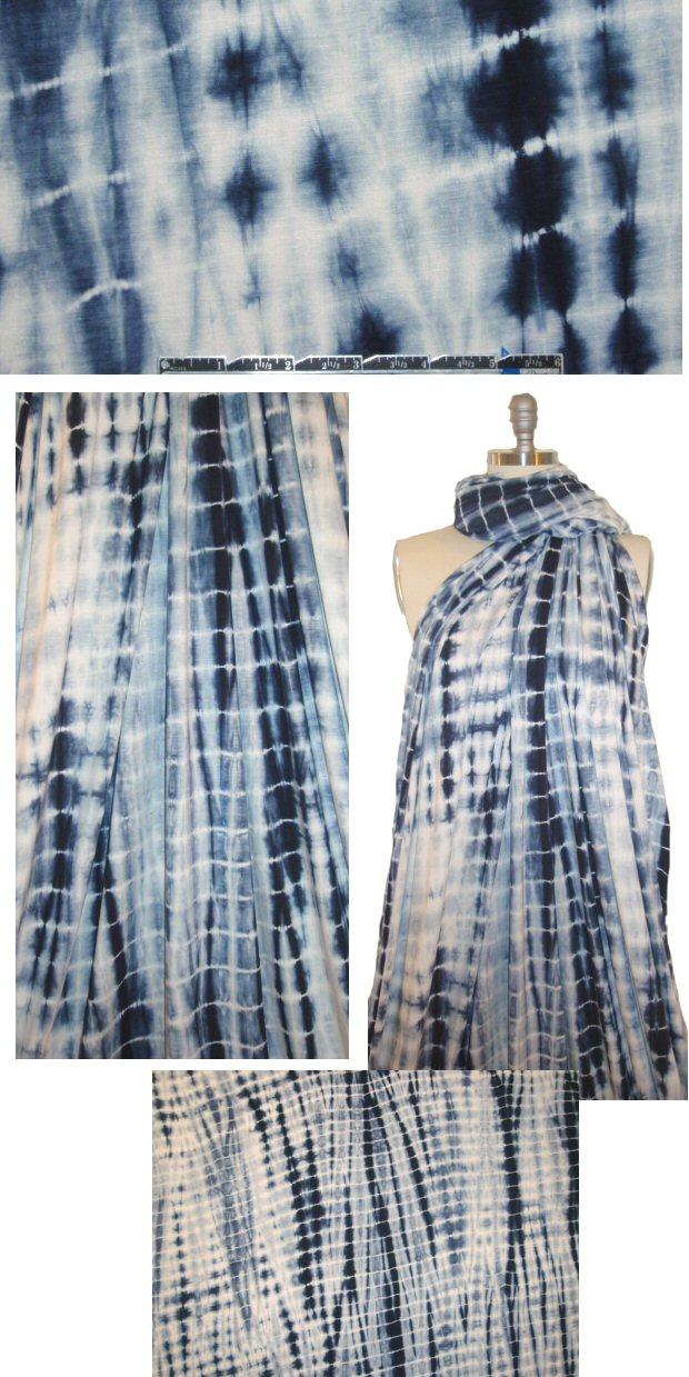e3d16b4a3ee Shibori bamboo/spandex jersey - navy tie dye from EmmaOneSock.com