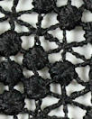 famous designer black diamond bead guipure lace
