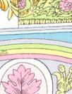Bedhe@d decorative mosaic COTTON/spandex knit