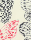 Bedhe@d black/ivory/red butterfly COTTON woven