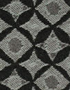 designer black/gray nova graphic bengaline stretch jacquard