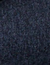Italian dark navy boiled wool knit coating