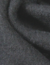 boiled wool knit coating - black