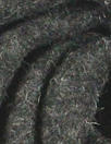 boiled wool knit coating - charcoal heather
