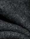Italian textured boiled wool knit - off black