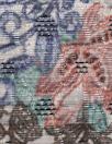 Italian textured overprinted brocade - rust/wisteria