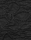 Dress to Ki11 embroidered cloque' weave cotton - black