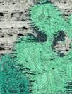 Italian jade flowers/tweed textured brocade