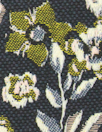 French cotton blend tapestry brocade - navy 1.25 yd
