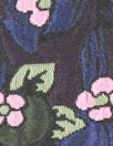 Rebecca Tayl0r berry jacquard brocade - blue/lilac