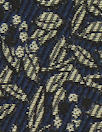 Italian silver/midnight foliage jacquard brocade suiting