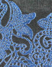 Italian clipped 'lacey trim' brocade