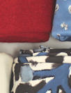 bundle, red/white/blue, 17 small cuts, 8 lbs