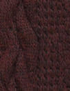 classic cable sweater knit - merlot