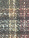 Italian wool/cashmere yarn dye plaid - plum/gray
