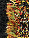 Italian Chane1 fringed stripe boucle' - spice/black/leaf 1.75 yd