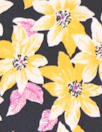 NY designer citrine/midnight floral silk charmeuse
