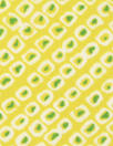 NY designer lemon lime little graphic silk charmeuse
