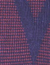 NY designer chevron yarn dyed knit - brick/navy