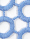 Italian circle guipure lace - french blue