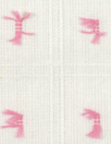 CA designer pink on ivory clip dot cotton woven