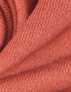 bamboo/cotton fleece-back knit - dusty orange