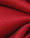 famous designer virgin wool blend coating - poinsettia