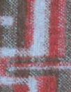 Italian mod graphic wool coating - peri/claret