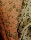 Italian rustic ombre floral cotton basketweave