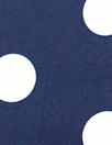white dots on navy cotton stretch woven