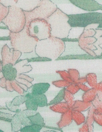 NY designer peach/mint floral border cotton lawn