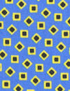 Caroline C0nstas teeny shapes cotton stretch - blue/yellow