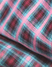 famous designer reversible cotton plaid - pink/sky
