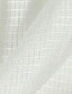 French grid texture white cotton shirting