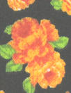 French orange floral printed cotton shirting