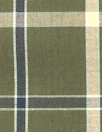 Steven A1an yarn-dye plaid cotton shirting - loden/beige
