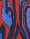 Ni1i L0tan printed cotton shirting - red/blue swirl
