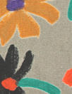 CA designer stylized flowers cotton poplin