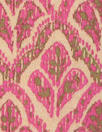 NY designer pink/olive/tan graphic cotton woven
