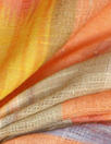 Italian over-printed cotton damask - southwest stripe