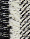 Italian cotton fringed stripes clipped stretch jacquard