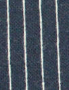 Italian cotton yarn-dyed navy pinstripe doubleknit