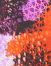 Mi11y grenadine/violet 'flower screen' cotton faille