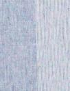 Italian linen/cotton gauzey blue stripe 1.5 yds